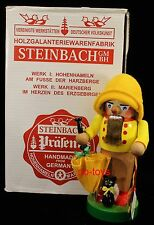 """STEINBACH GERMAN WOODEN NUTCRACKER CHUBBY """"SPRING""""  S1371 SIGNED NEW"""