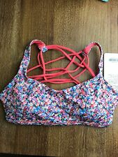 NEW Lululemon Floral Petal Free To Be Wild Sports Bra Tank Top Size 6