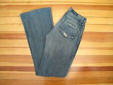 ROCK & REPUBLIC $225 : 24 Bootcut Flare MOTLEY Medium Distressed Destroyed Jeans