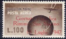 1947 San Marino posta aerea giornata filatelica rimini sovrastampa 1 v. ** MNH