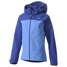 Adidas Women's Hiking OUTDOOR WALDLIGHT JACKET COAT L LARGE LG BLUE G89591 $130