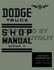 1938 Dodge Pickup and Truck Shop Manual 38 Repair Service base book for 1939