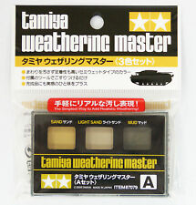 TAMIYA WEATHERING MASTER A SET INVECCHIAMENTO SAND LIGHT SAND MUD ART 87079
