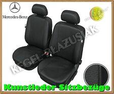 Kunstleder Sitzbezüge Mercedes E-Klasse, W210, W211 - Schwarz - für Vordersitze