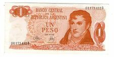 ARGENTINA NOTE 1972 1 PESO Ley 18.188 Series D - P#287 - B#2312