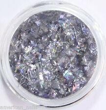 FLOCONS Mylar ICY Perle Grise bijou décoration ongle Nail Art