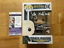 Tom Felton Signed Draco Malfoy Harry Potter Funko Pop Filthy Mudblood JSA Coa