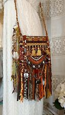 Handmade Vintage Tapestry Fringe Cross Body Bag Gypsy Boho Festival Purse tmyers