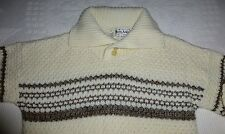 Roos Atkins Men's S Sweater Polo Pullover 2 Button High Neck Collar