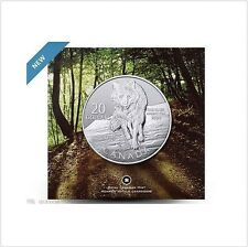 2013 Canada $20 Wolf Commemorative .9999 Fine 20 for 20 Silver coin dollar