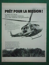 5/84 PUB BELL HELICOPTER TEXTRON HELICOPTERE BELL 412 TWIN FRENCH AD