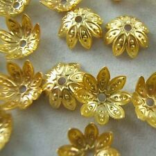 Wholesale 150pcs Yellow Gold Plated Flower Bead Caps Jewerly Findings 9.5mm B038