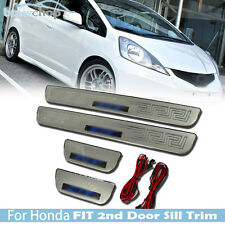 For Honda Fit 2nd Jazz Door Sill Trim New Genuine Molding Kit