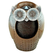 Wise Ol Owl LED Light Kit and Pump Desk Table Patio Water Fountain Sculpture