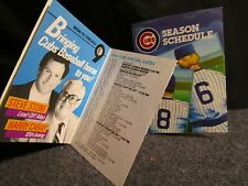 1986 CHICAGO CUBS POCKET SCHEDULE LOT X2 HARRY CARAY & VARIANT BUDMAN!