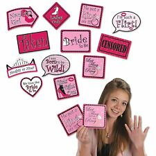 BRIDAL SHOWER Bachelorette PHOTO SIGN PROPS reversible (12 COUNT) Wedding Party