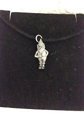 Gnome R88 English Pewter Emblem on a Black Cord Necklace Handmade