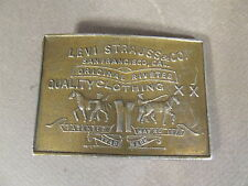 VINTAGE SOLID BRASS LEVI STRAUSS & CO S.F. CA LEWIS BUCKLES CHICAGO BELT BUCKLE