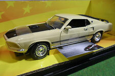 FORD MUSTANG MACH I 1969 jaune 1/18 AMERICAN MUSCLE ERTL 32262 voiture miniature