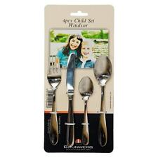 Grunwerg Stainless Steel Cutlery Child Children Set 4pce windsor NEW