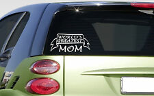 "World's Greatest mom 8"" sticker *E990* DECAL mother mommy mama baby family love"