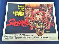 Original 1976 SQUIRM Half Sheet Movie Poster 22 x 28 HORROR CLASSIC! BEAUTY!