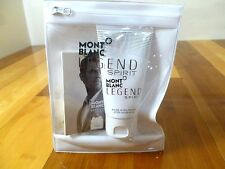 MONT BLANC SPIRIT ,SPRAY sample SIZE 1.5 ml  With Pouch & AFTER SHAVE BALM 50 ml