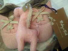 £24 Ruby & Ed red striped baby gift soft toy & boots  Booties Shoes 18-24 Months