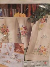 NEW VERVACO Embroidery KIT Stamped CROSS STITCH Table Runner Flower Floral DMC