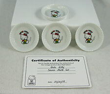 Hello Kitty 40th Con Vintage 1990 China or Ceramic Sushi Soy Sauce Set 4 Dishes