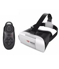 Virtual Reality VR 3D Phone Headset Video Glasses Helmet + Bluetooth Remote - US