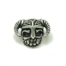 STERLING SILVER PENDANT SOLID 925 BEAD VIKING SKULL PE001104 EMPRESS