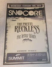 The PRETTY RECKLESS Snocore 2014 Summit - Denver 11x17 Show Flyer / Gig Poster