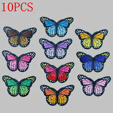 10X Charm Embroidery Butterfly Sew On Patch Badge Embroidered Fabric Applique
