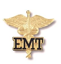 EMT Caduceus Wings Lapel Pin Emergency Medical Technician Graduation Recognition