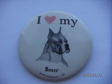 I LOVE MY BOXER DOG PICTURE BADGE