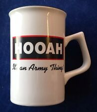 "Amazing ""Hooah! It's An Army Thing Tea Cup or Coffee Mug - Free Shipping!"