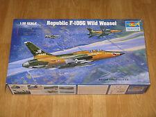 TRUMPETER 1/32 Republic F-105G WILD WEASEL Scale Model Kit 02202 Open Box