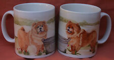 CHOW CHOW DOG MUG OFF TO THE DOG SHOW PAINTING SANDRA COEN ARTIST PRINT