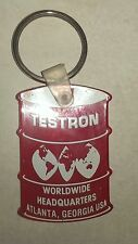 Testron Worldwide Headquarters Atlanta Georgia USA Keychain~Red White Advertise