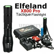 Elfeland 18000lm X800 Pro Tactical Flashlight LED Zoom militare torcia Tattico