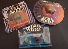 Set of 3 Star Wars Micro Machines Toys Tie Fighter Jawa Sand Crawler Yoda