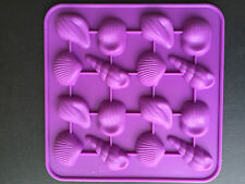Shell Mould - makes 16 shells - Chocolate/soap/wax