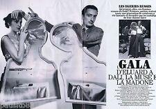 COUPURE DE PRESSE CLIPPING 1994 Gala d'Eluard à Dali   (6 pages)