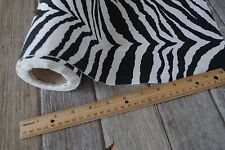 """2 YARDS Black White Zebra Print COTTON FABRIC Material Heavy WGHT WOVEN 60"""" Wide"""