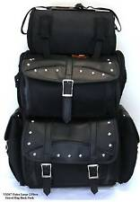 MOTORCYCLE SISSY TRAVEL BAR BAGS STUD PLAIN BAG BACK PACK TRAVEL LUGGAGE ALL NEW