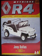 FASCICULE 16 RENAULT R4  4L JEEP DALLAS 1983