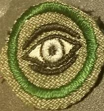 1933-1936 Girl Scout Badge OBSERVER - GREY GREEN ROUND