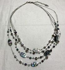 "COLDWATER CREEK 20"" 4-Strand Beaded Necklace - Designer Jewelry"