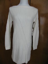 NWT Nordstrom Collection  Women Ivory 100% Cashmere Detailed Mini Dress XS $298